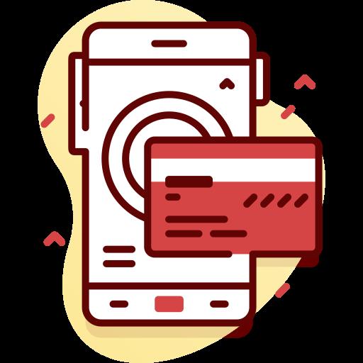 Иконка на телефон и кредитна карта